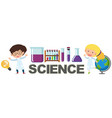 students character with science element vector image vector image
