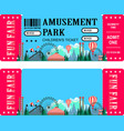 ticket amusement park vector image vector image