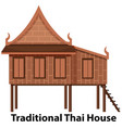 traditional thai house on white background vector image vector image