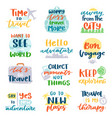travel lettering adventure calligraphy text vector image vector image