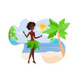 travel to paradise island flat color vector image