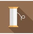 White thread spool icon flat style vector image