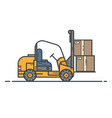 counter-balanced forklift truck vector image