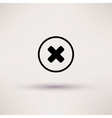 Disapprove check mark icon Isolated vector image