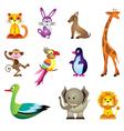Wild animals toys vector image