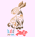 Rabbit ornate vector image