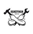 Handyman service emblem Carpentry related vector image
