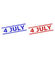 4 july seals with rubber texture and parallel vector image vector image