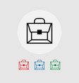 a set of briefcase icons vector image vector image