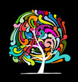 abstract swirl tree for your design vector image