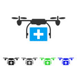 ambulance drone flat icon vector image vector image
