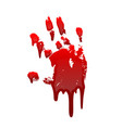 bloody hand print 3d isolated white background vector image vector image