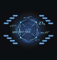 Blue infographics as head-up display vector image vector image