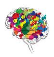 bright brain success concept smart idea icon vector image vector image