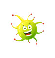 cartoon virus cell icon bacteria or germ vector image vector image