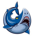 cartoon white shark mascot vector image