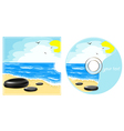 CD label with a sea view vector image vector image