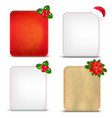 christmas banners set with holly berry vector image vector image