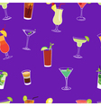 Cocktail purple seamless pattern vector image vector image