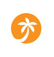 coconut tree logo beach or sun set vector image