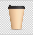 coffee cap with black lid mock up empty mug vector image vector image