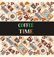 coffee time background vector image vector image