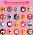 communication technology icons vector image
