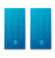 creative of phone dial keypad vector image vector image