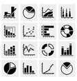 Diagrams icon set vector image vector image