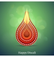 Diwali Indian festival greeting card vector image vector image