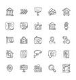 doodle icons of real estate vector image vector image