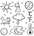 Doodle of weather set on white backgrounds