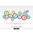 Education mechanism concept Abstract background vector image vector image
