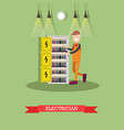 electrician concept in flat vector image vector image