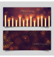 elegant merry christmas banner with lighting vector image vector image