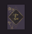 elegant save date invitation design vector image vector image