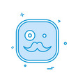 emoji mustache icon design vector image