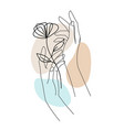 female hands with flower and abstract background vector image vector image