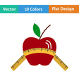 Flat design icon of Apple with measure tape vector image vector image