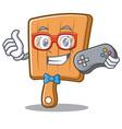 gamer kitchen board character cartoon vector image vector image