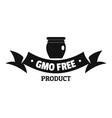 gmo free label logo simple black style vector image vector image