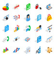 guide icons set isometric style vector image vector image