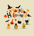halloween design with happy halloween vector image