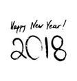 happy new year inscription 2018 vector image