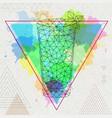 hipster polygonal cocktail mojito vector image vector image