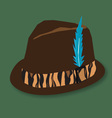hunting hat vector image vector image