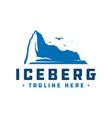 iceberg logo design vector image vector image