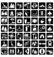 icons travel vector image vector image