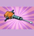 jackhammer working tool vector image