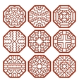 Korean traditional patterns ornaments and vector image vector image